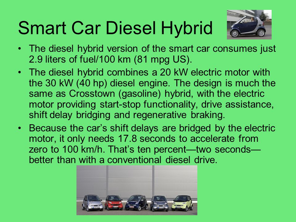 Smart Car Diesel Hybrid