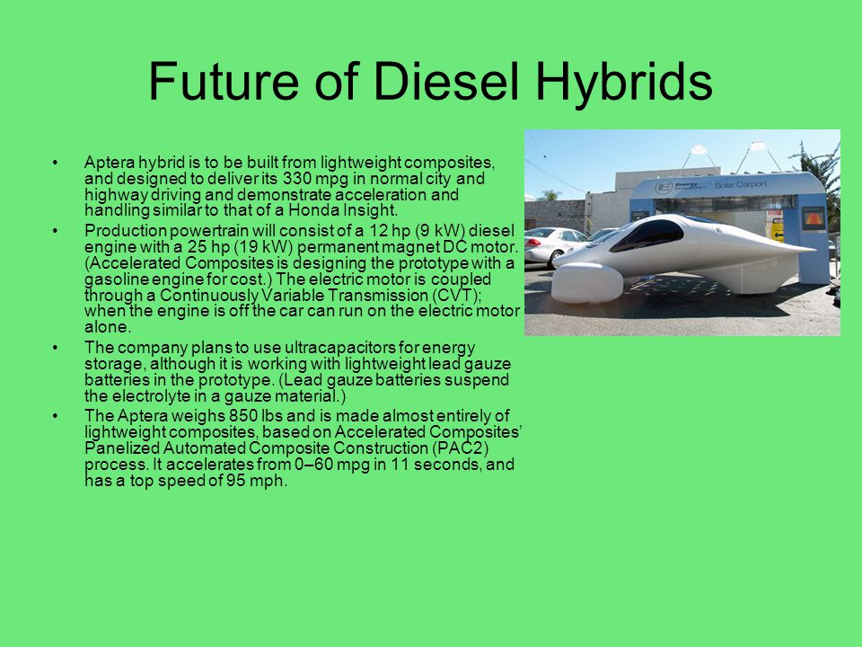 Future of Diesel Hybrids