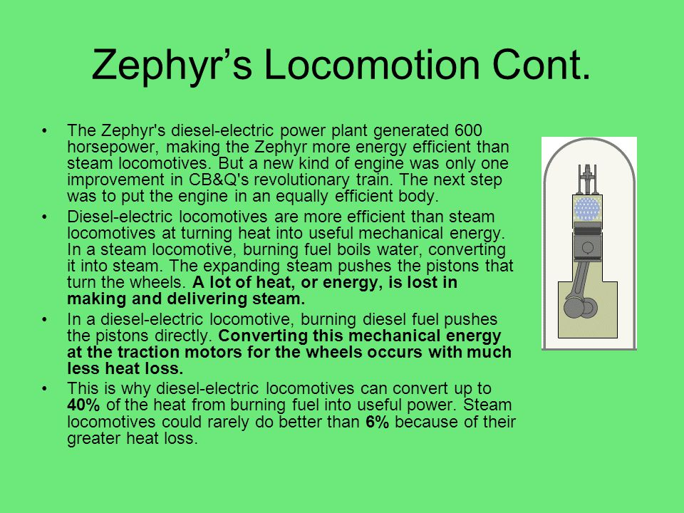 Zephyr's Locomotion Cont.