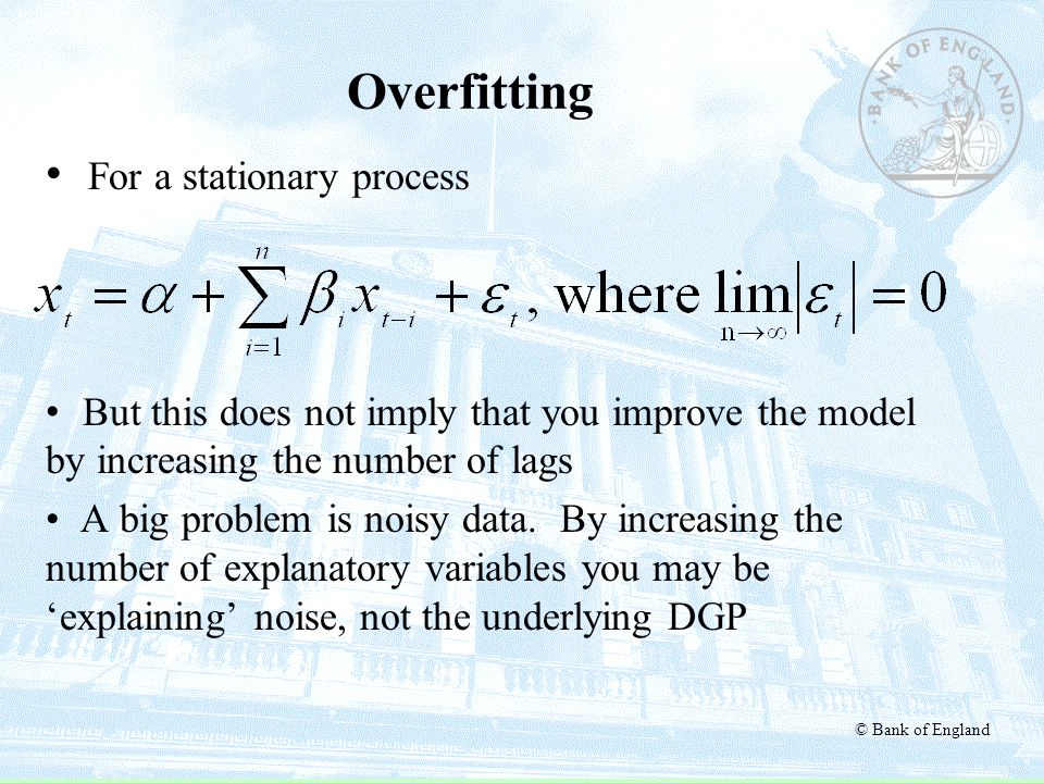 Overfitting For a stationary process