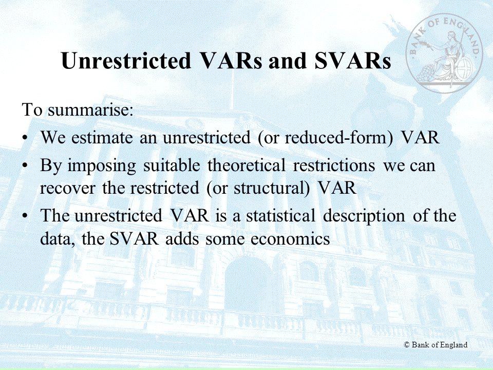 Unrestricted VARs and SVARs