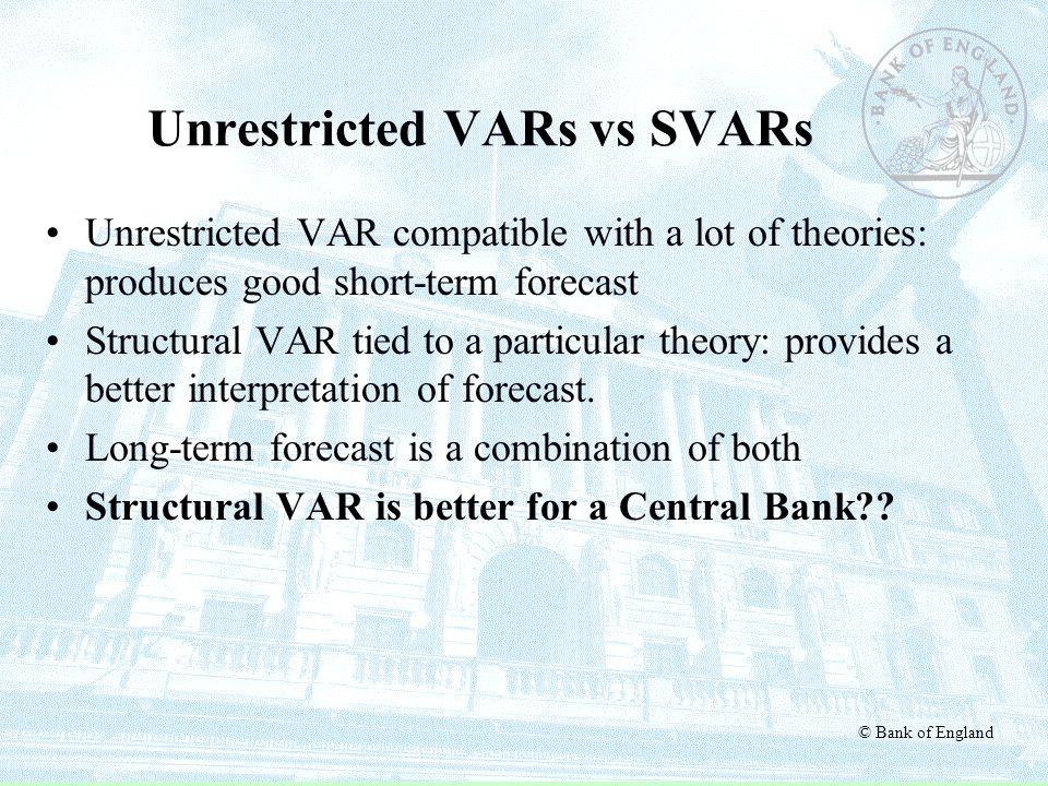 Unrestricted VARs vs SVARs