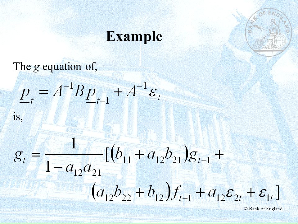 Example The g equation of, is,