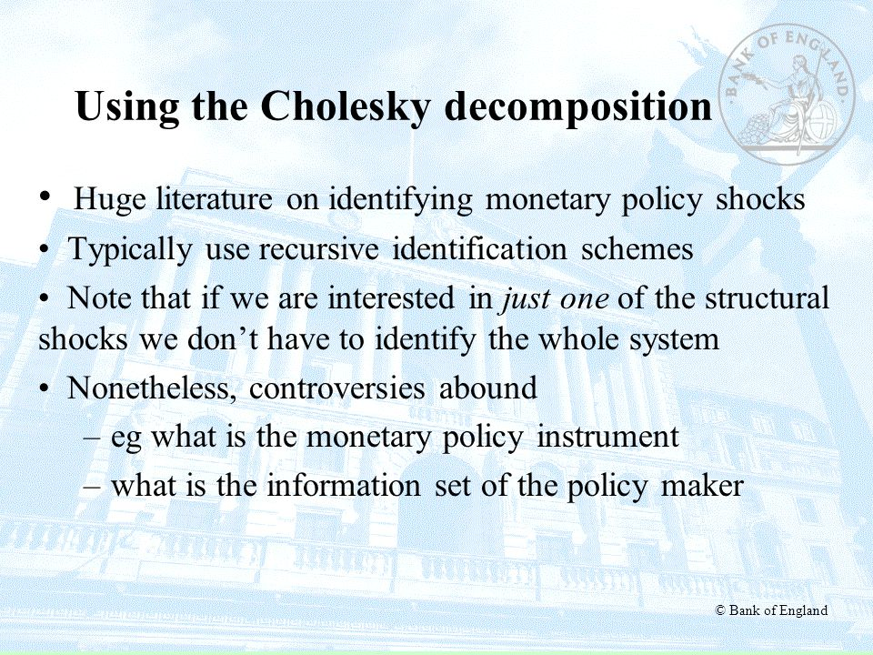 Using the Cholesky decomposition