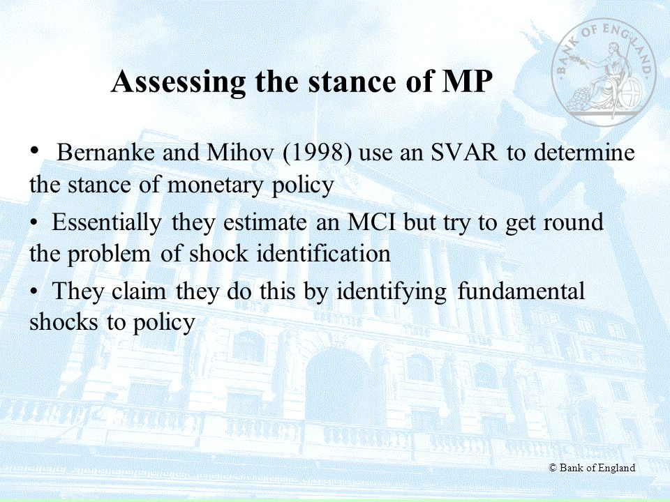 Assessing the stance of MP