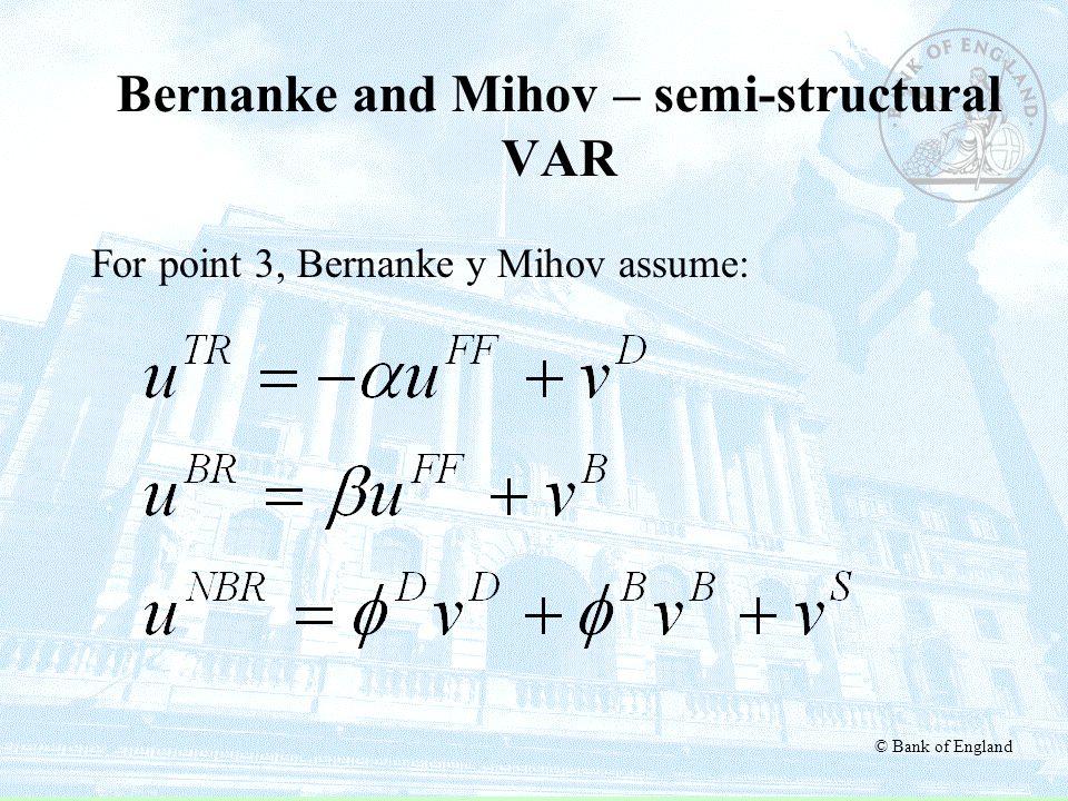 Bernanke and Mihov – semi-structural VAR