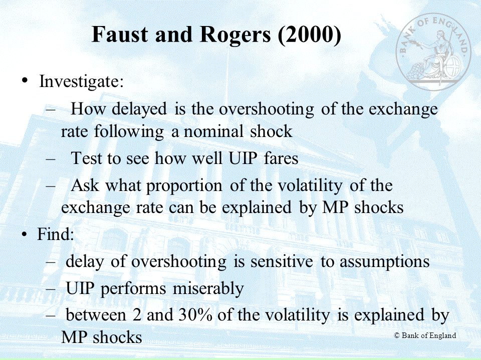 Faust and Rogers (2000) Investigate: