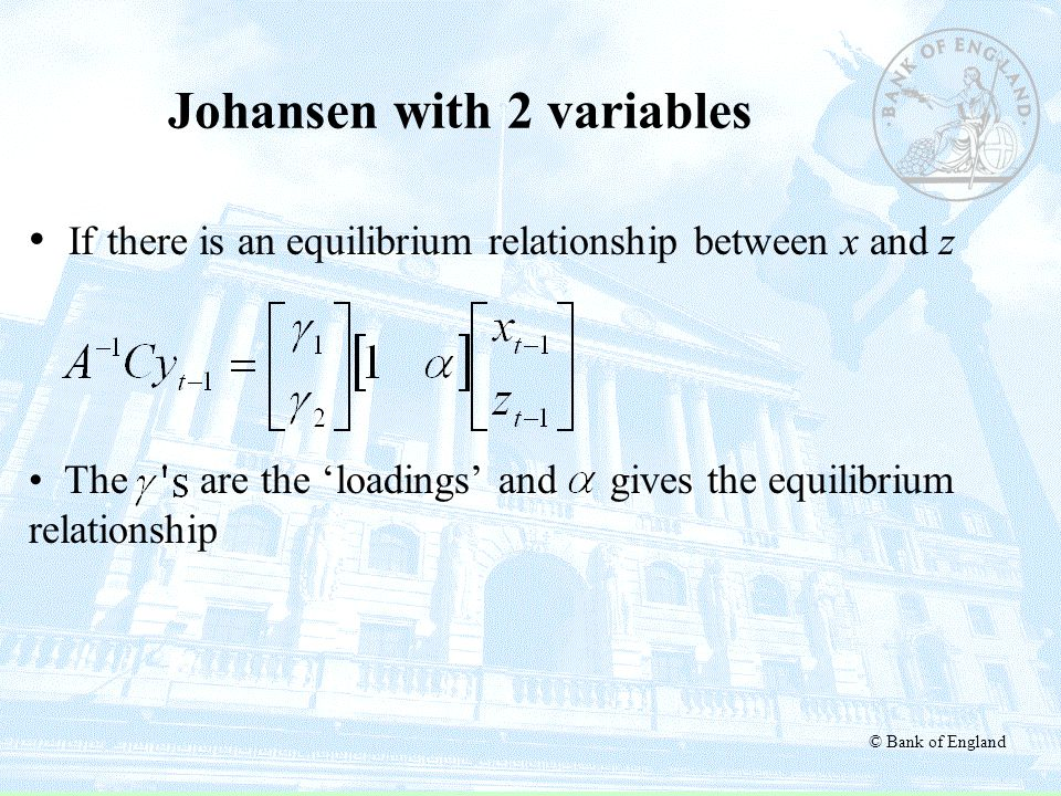 Johansen with 2 variables