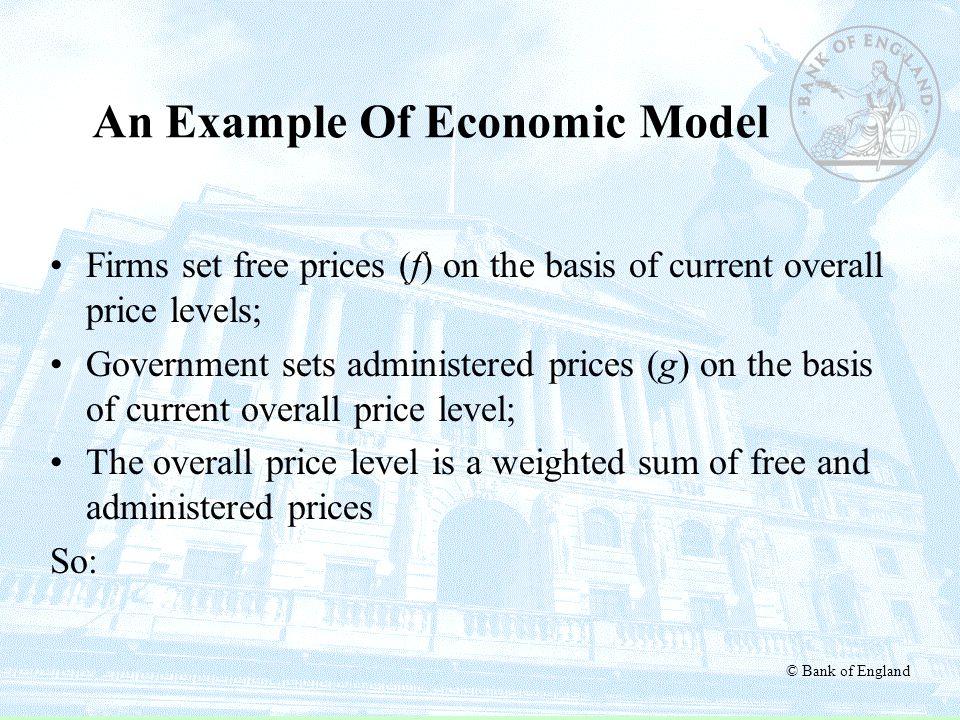 An Example Of Economic Model