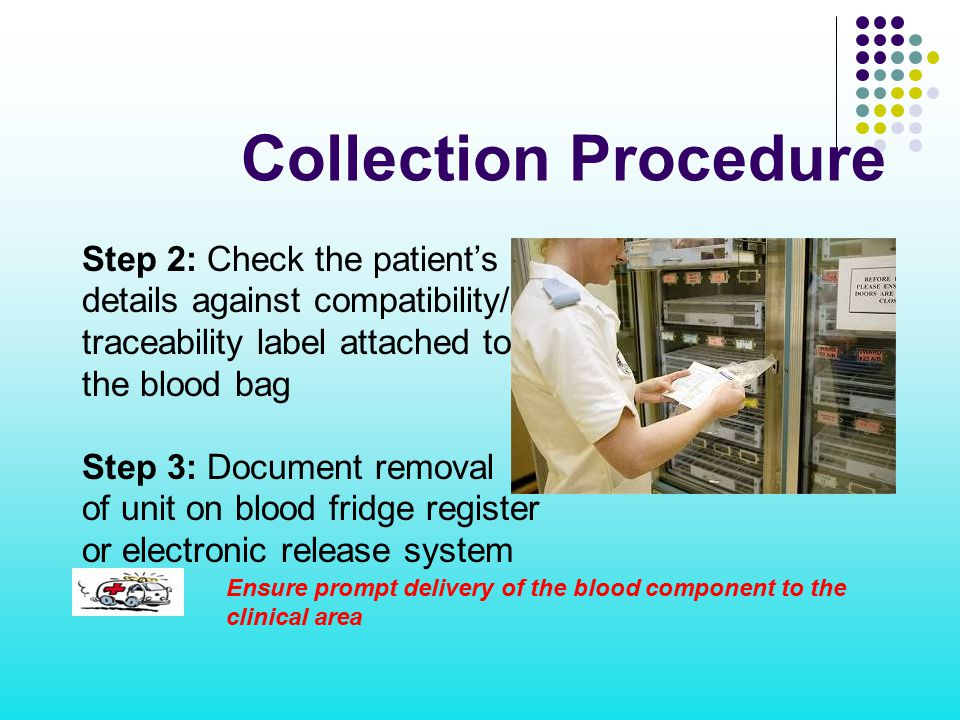 Collection Procedure Step 2: Check the patient's ID