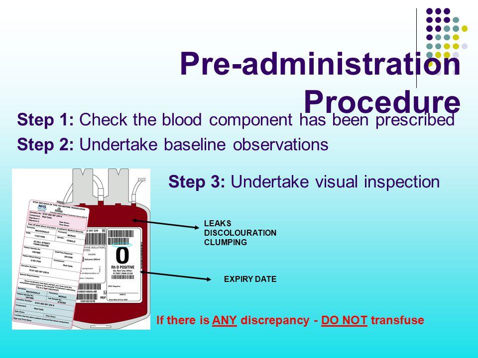 Pre-administration Procedure