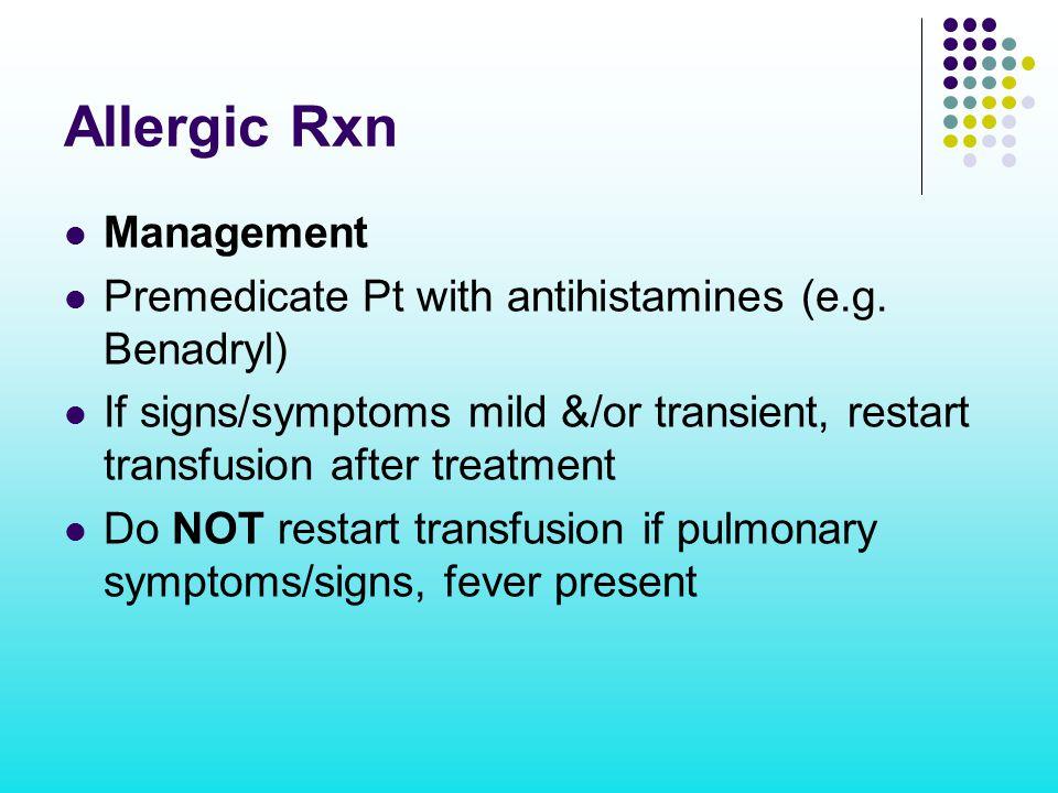 Allergic Rxn Management