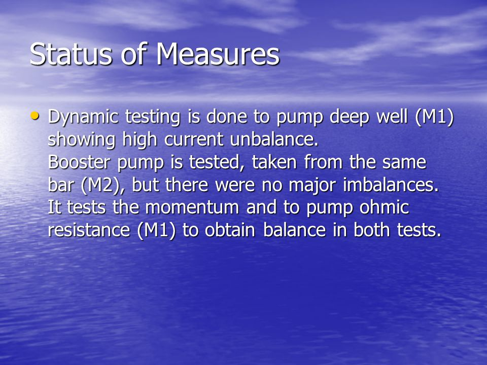 Status of Measures