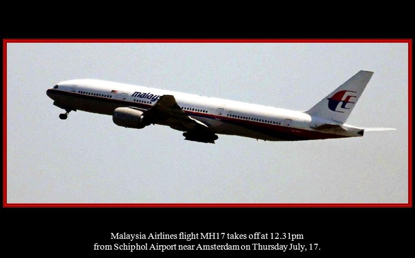 Malaysia Airlines flight MH17 takes off at 12.31pm