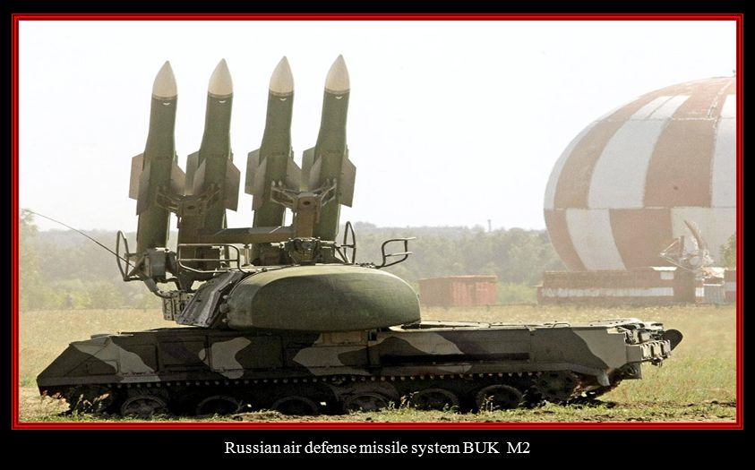 Russian air defense missile system BUK M2