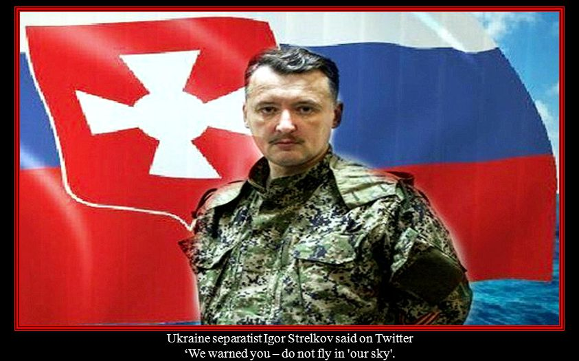 Ukraine separatist Igor Strelkov said on Twitter