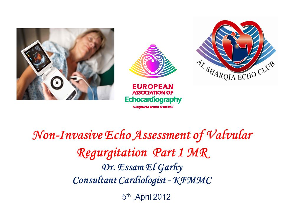 Non-Invasive Echo Assessment of Valvular Regurgitation Part 1 MR
