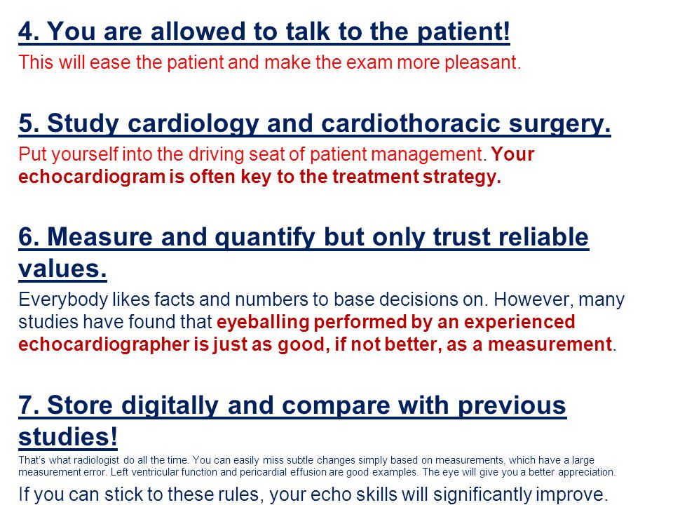 4. You are allowed to talk to the patient!