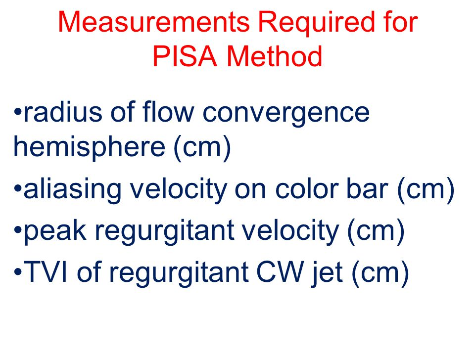 Measurements Required for PISA Method