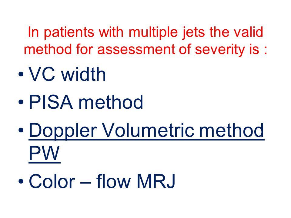 Doppler Volumetric method PW Color – flow MRJ