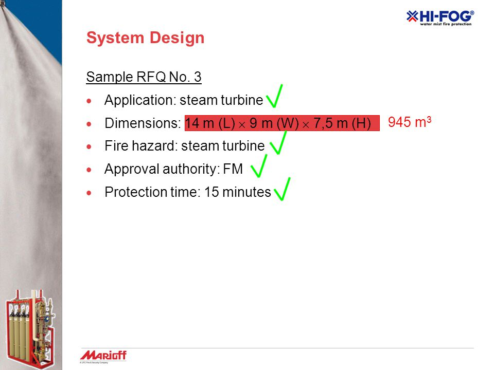 System Design Sample RFQ No. 3 Application: steam turbine