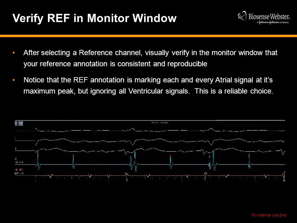 Verify REF in Monitor Window