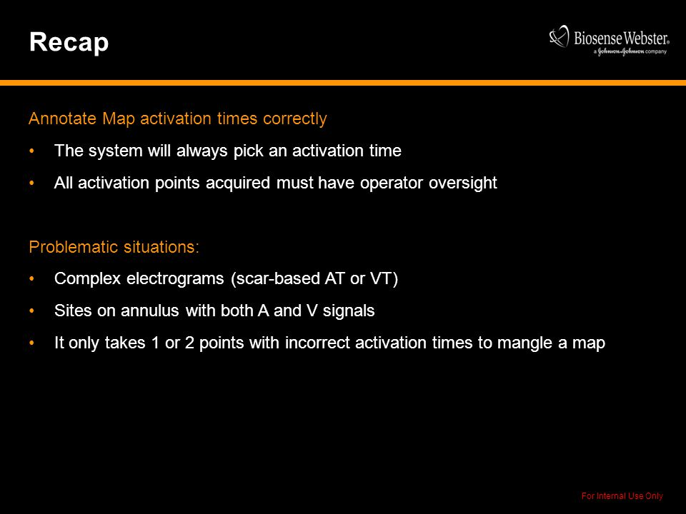 Recap Annotate Map activation times correctly