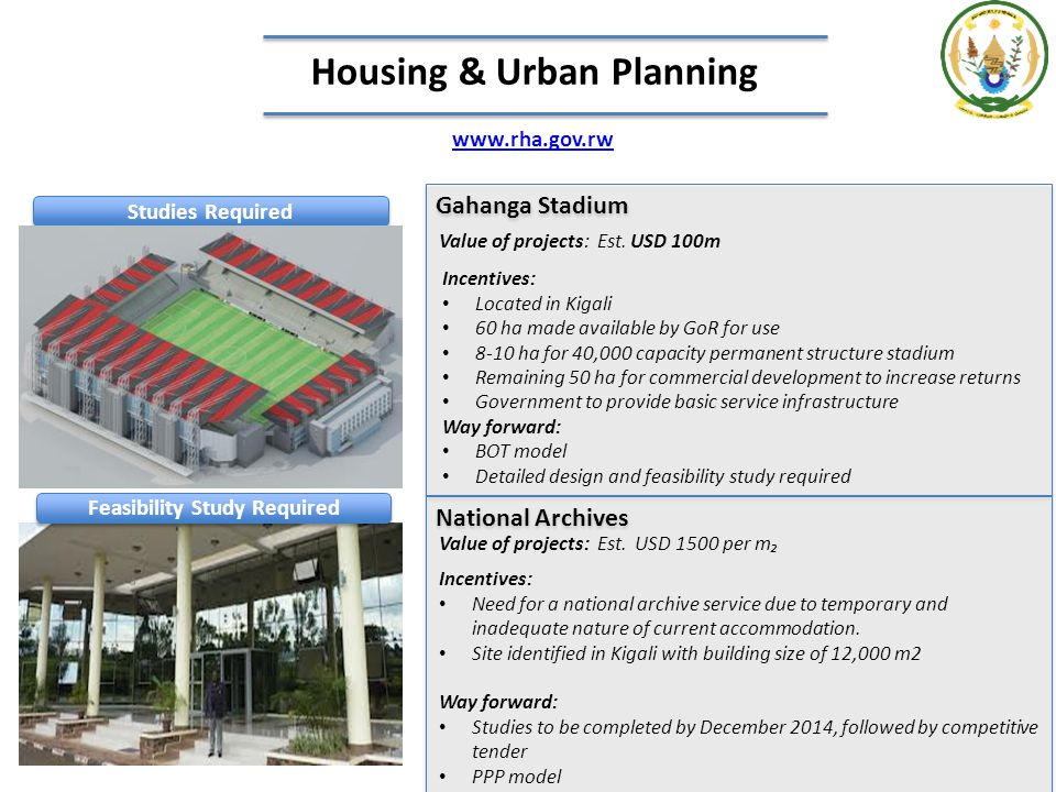 Housing & Urban Planning Feasibility Study Required