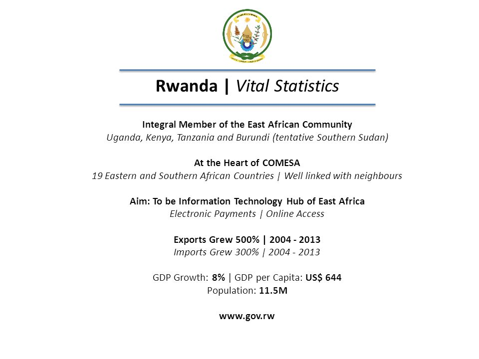 Rwanda | Vital Statistics