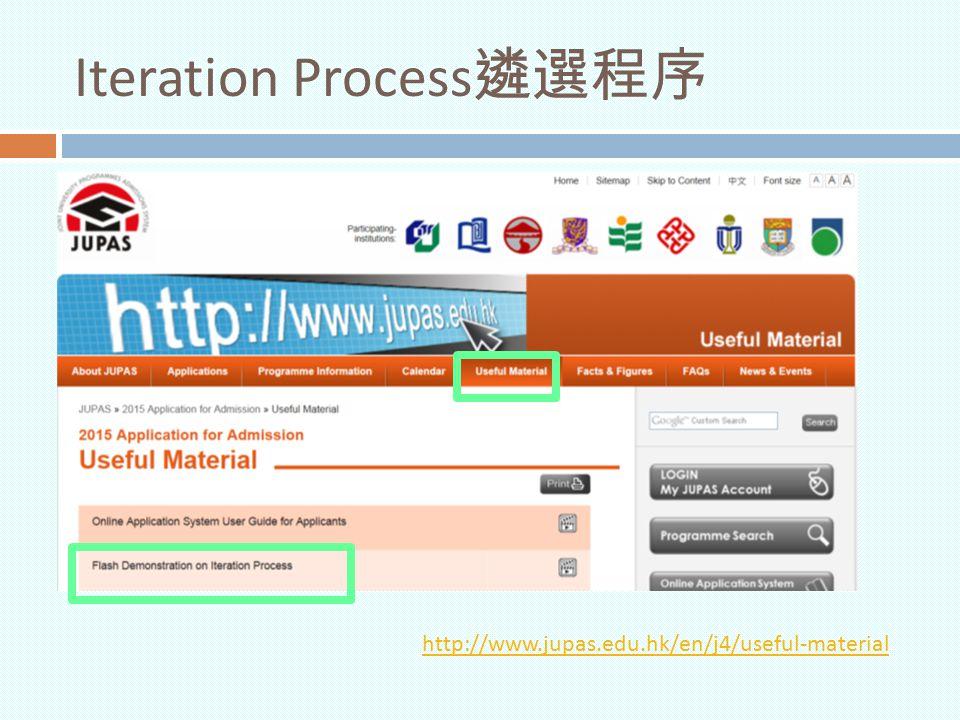 Iteration Process遴選程序