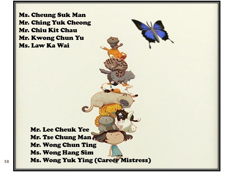Ms. Cheung Suk Man Mr. Ching Yuk Cheong. Mr. Chiu Kit Chau. Mr. Kwong Chun Yu. Ms. Law Ka Wai. Mr. Lee Cheuk Yee.