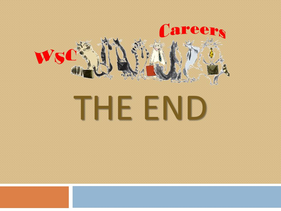 WSC Careers The end