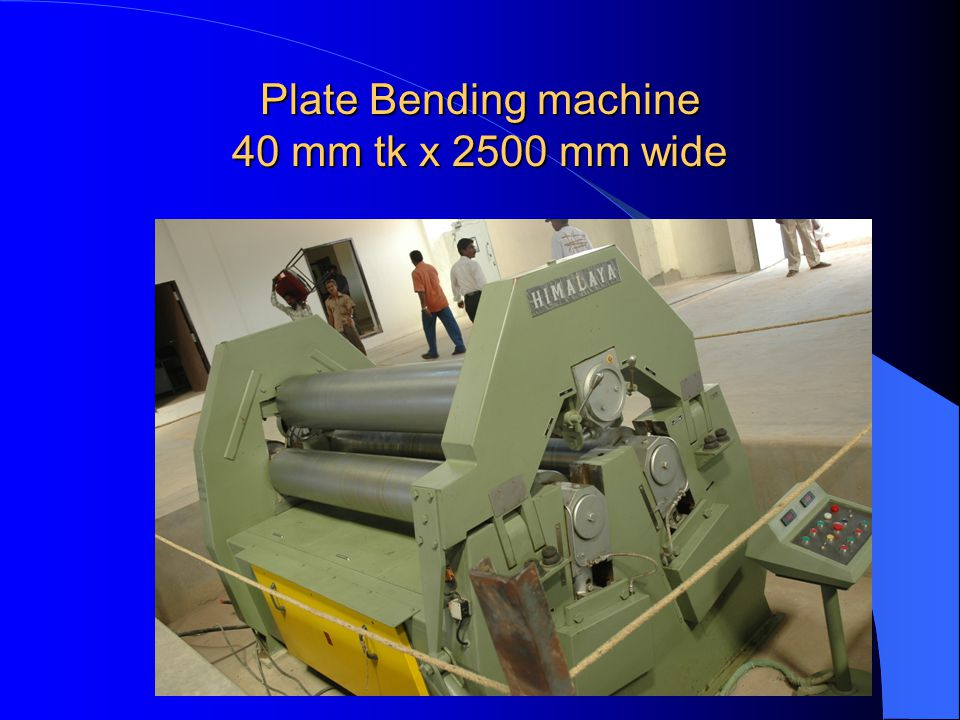 Plate Bending machine 40 mm tk x 2500 mm wide