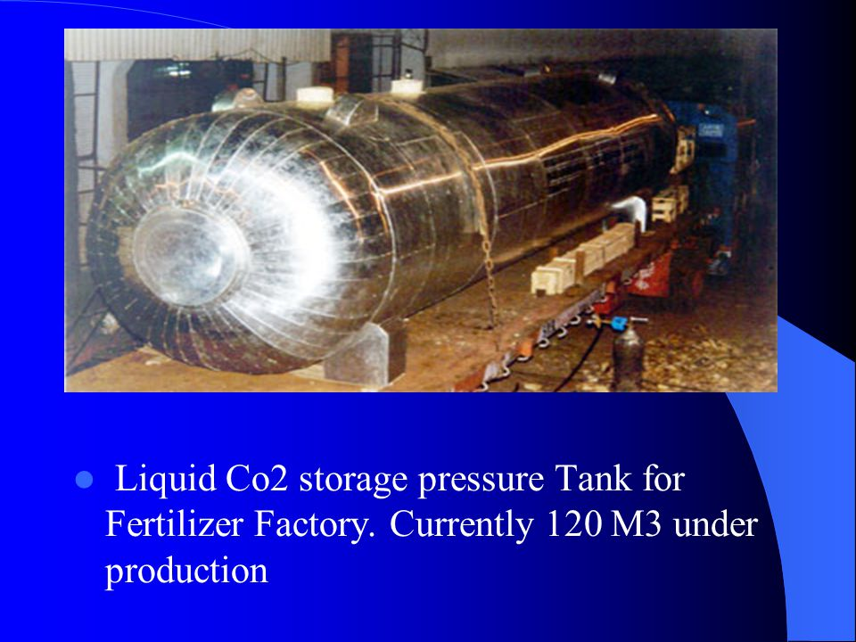 Liquid Co2 storage pressure Tank for Fertilizer Factory