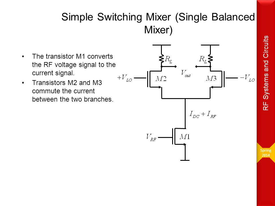 Simple Switching Mixer (Single Balanced Mixer)