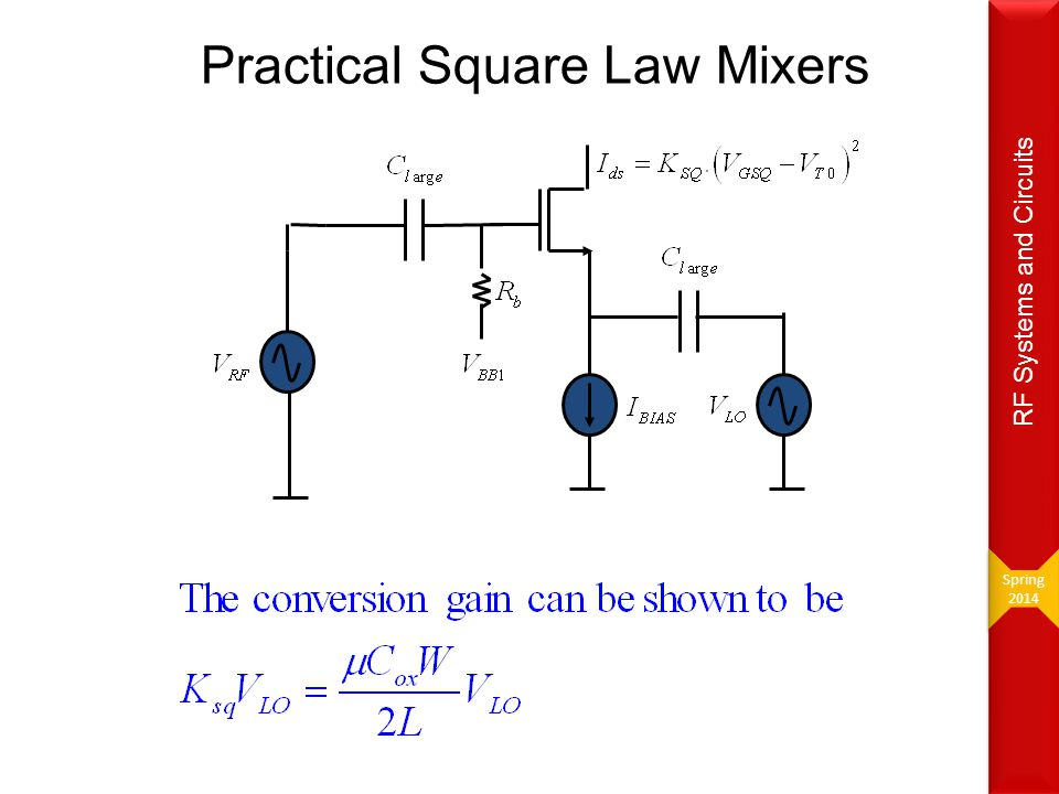Practical Square Law Mixers