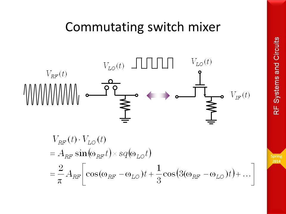 Commutating switch mixer