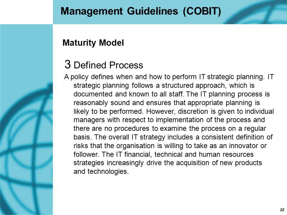Management Guidelines (COBIT)