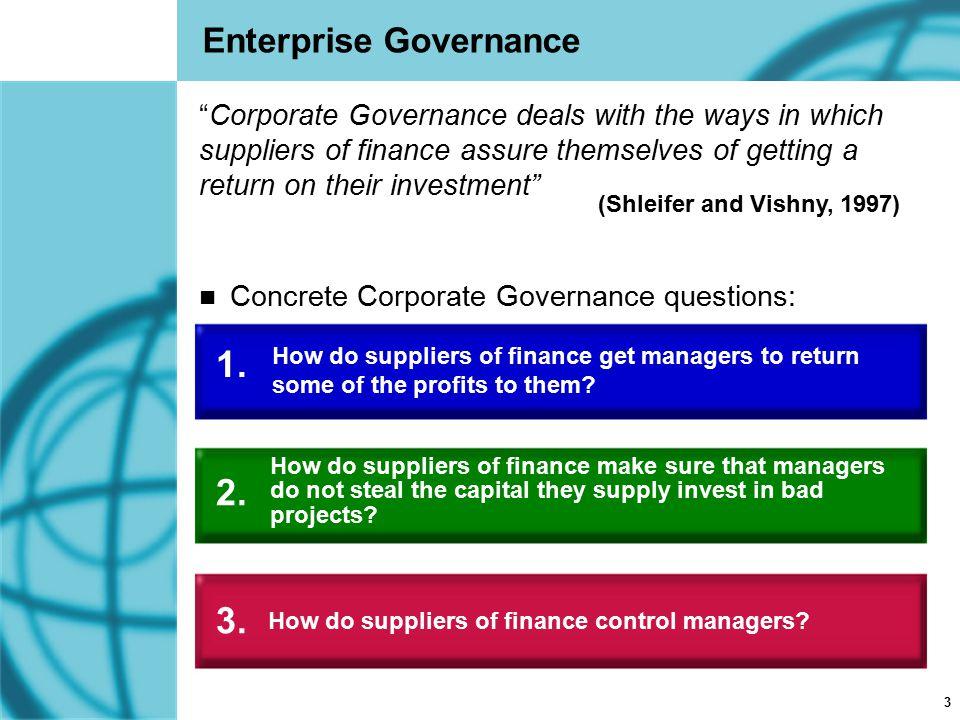 1. 2. 3. Enterprise Governance