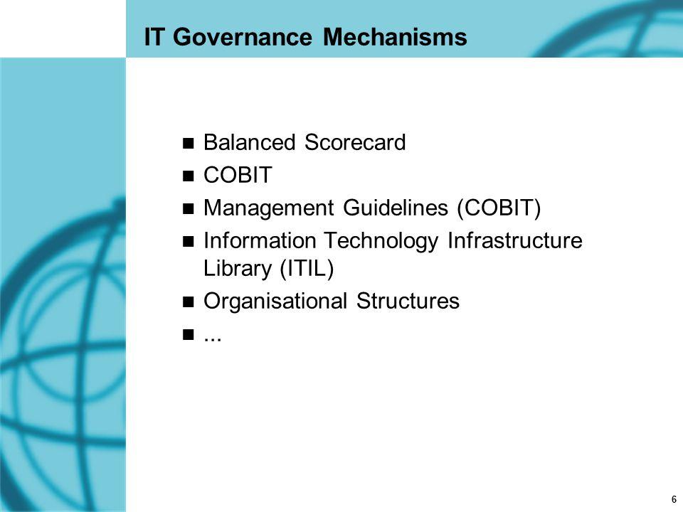 IT Governance Mechanisms
