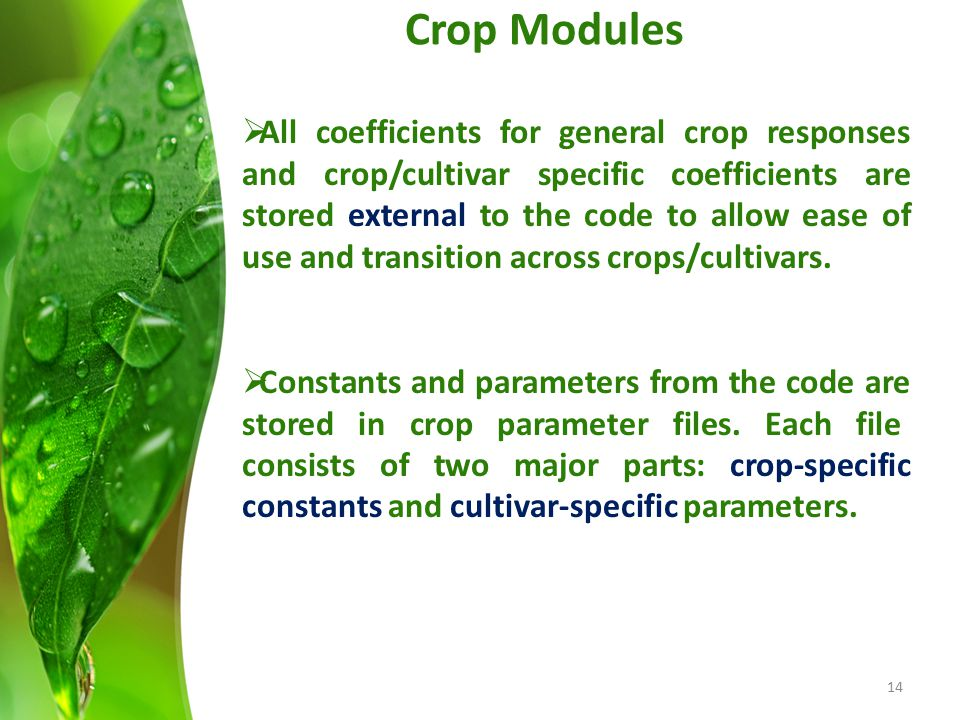 Crop Modules