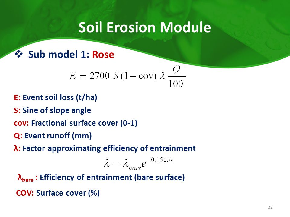 Introduction apsim is a modeling environment that uses for Soil k factor