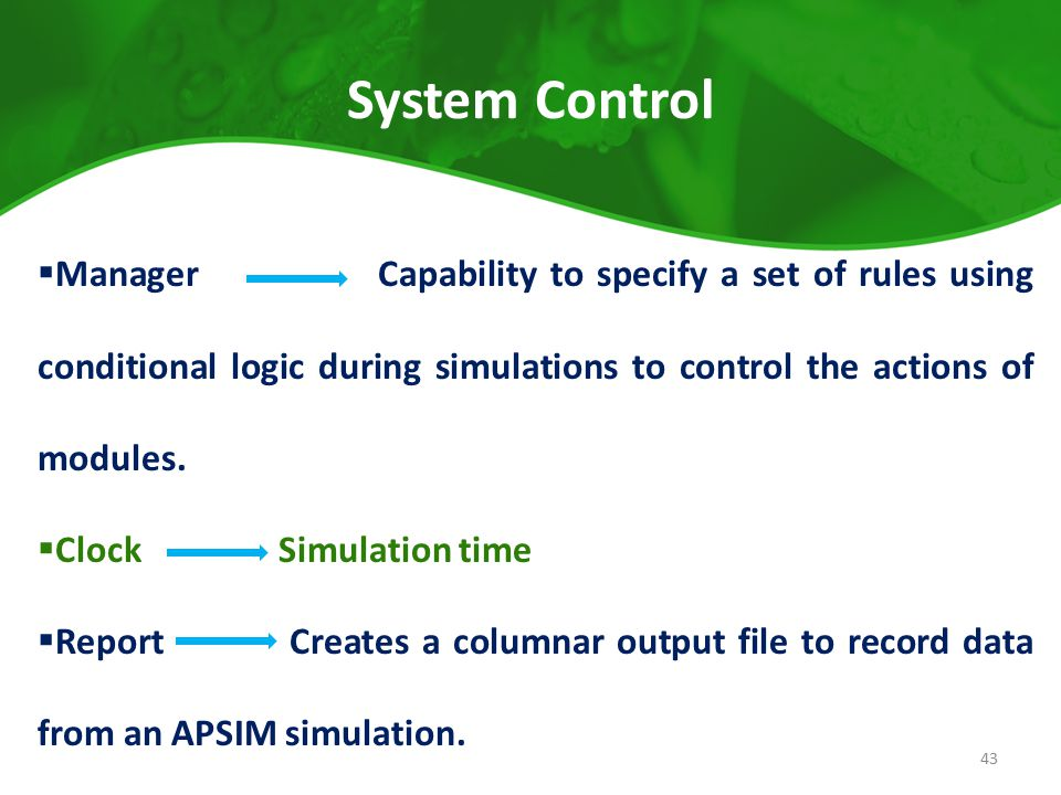 System Control