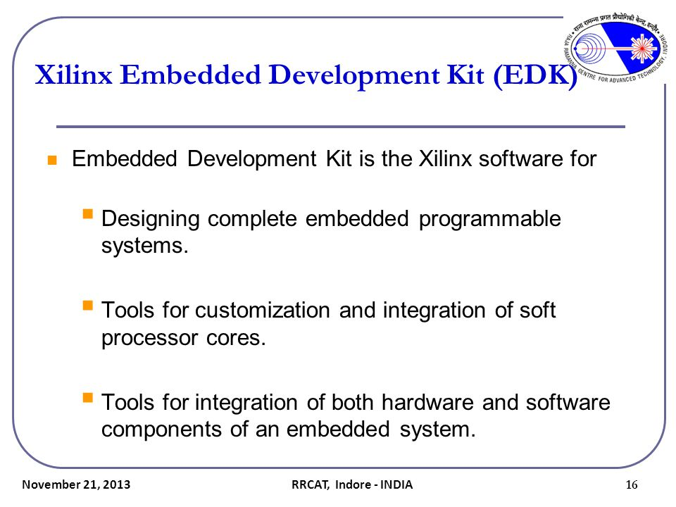 Xilinx Embedded Development Kit (EDK)