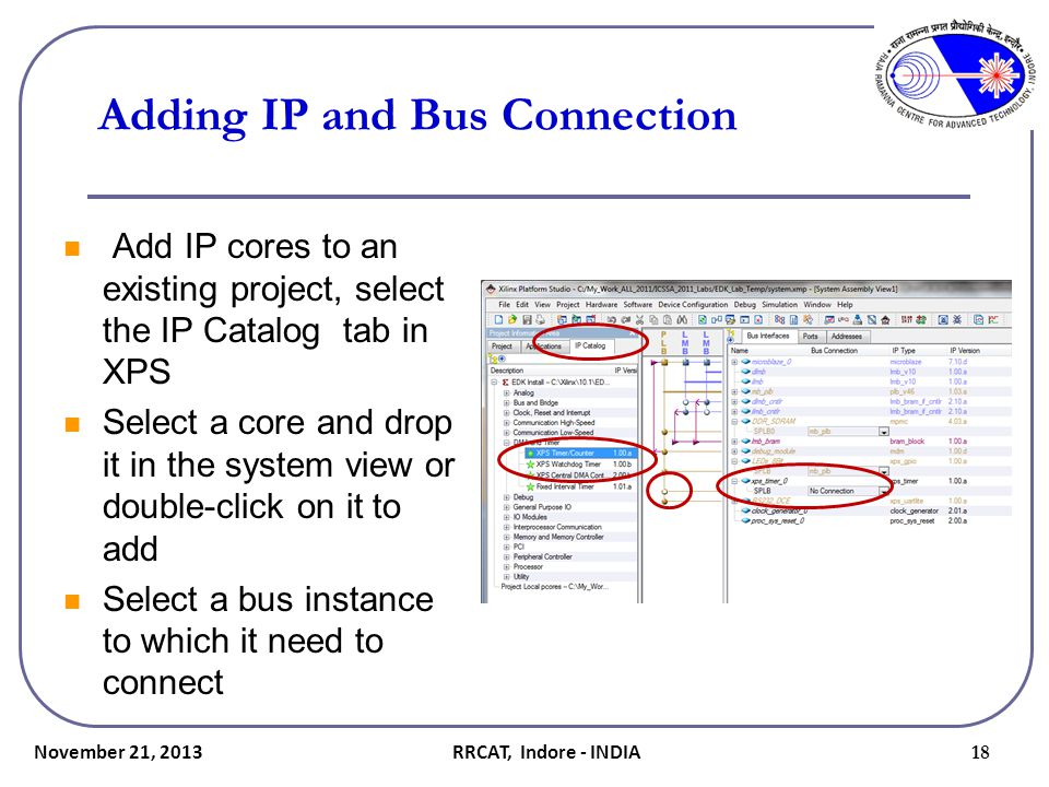 Adding IP and Bus Connection