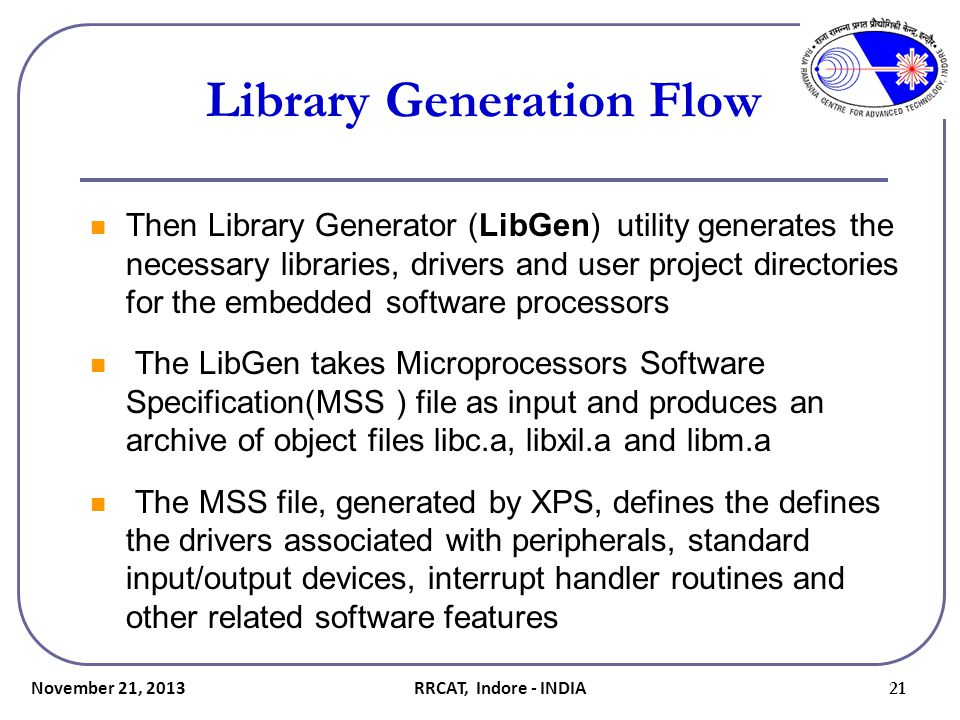 Library Generation Flow