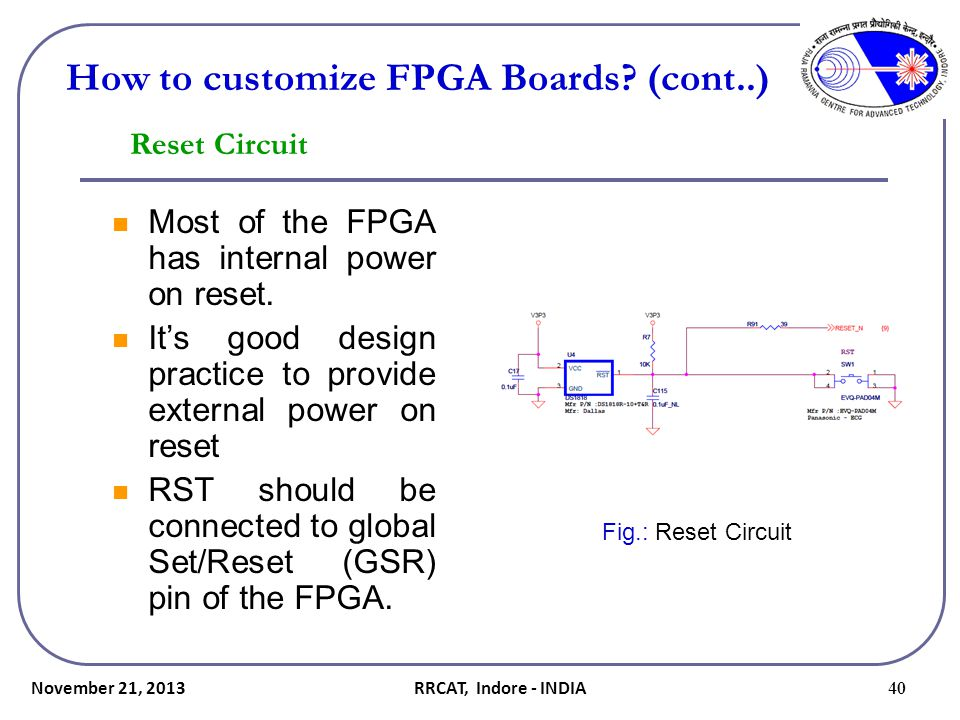 How to customize FPGA Boards (cont..)