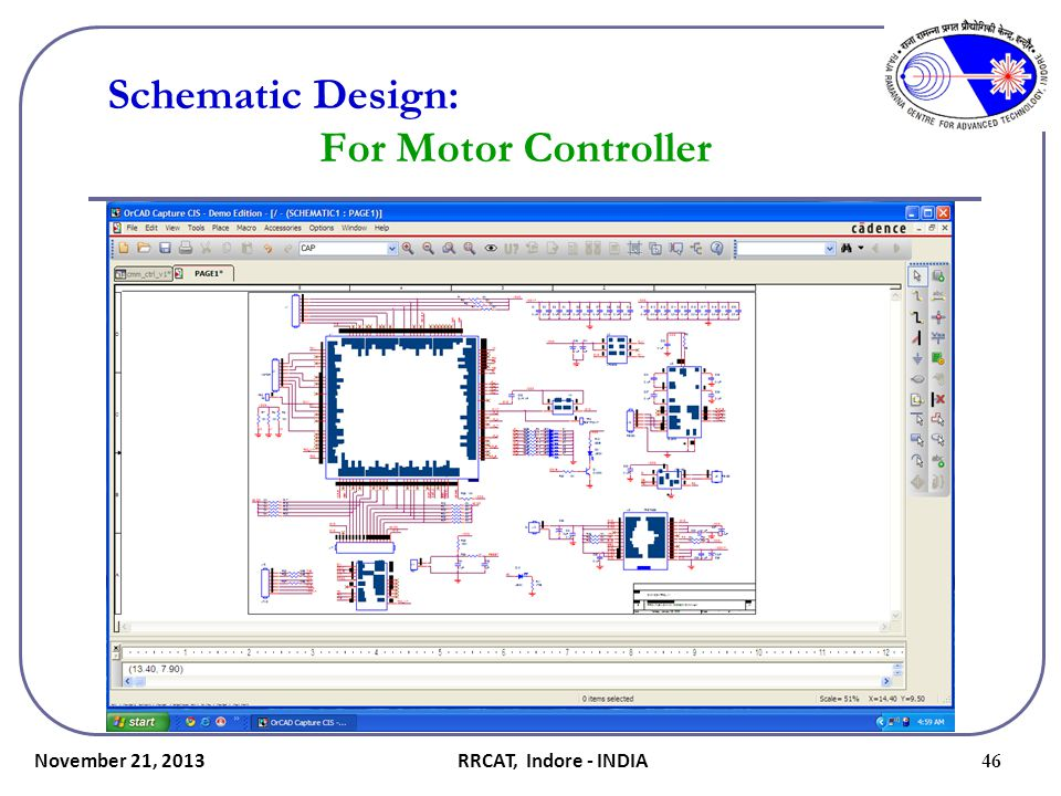 Schematic Design: For Motor Controller