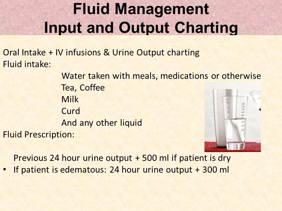 Fluid Management Input and Output Charting