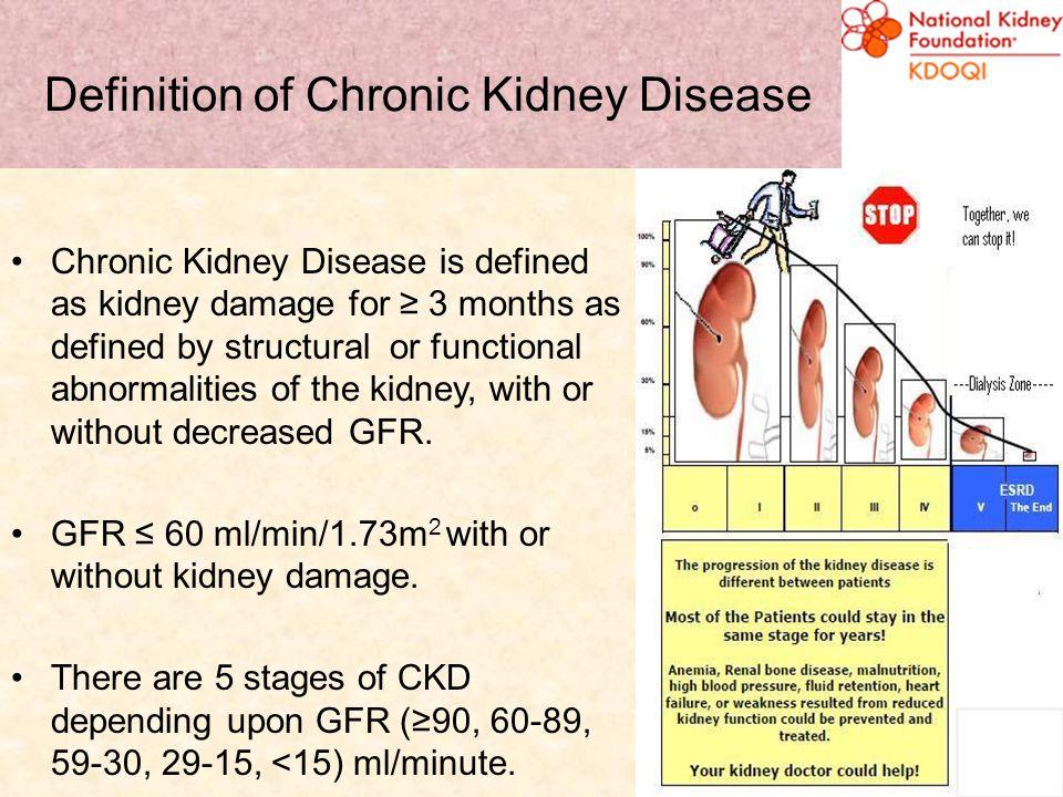 Definition of Chronic Kidney Disease
